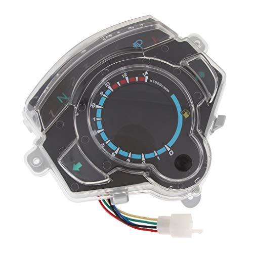 Odometer Spur Bunte Motorrad Moped LED Batteriestands Gas Gauge Tacho Tachoentfernungsmesser ZHQHYQHHX