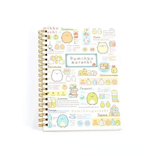 WFS Diarios Lazy Corner fácilmente Oso Cartoon Coil Cuaderno Bloc de Notas Página Color Sub-Mano Libros y Diarios Notebook (Pattern : A)