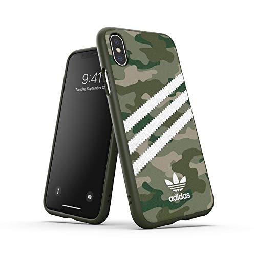 adidas Originals - Cover per iPhone XS Max, Verde Mimetico