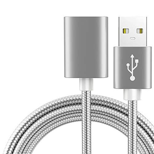 Hubs USB USB 2.0 Extensión Tipo de cable de extensión a un varón for la cuerda femenina 6.6ft DURADERA material trenzado rápida transferencia de datos Compatible con teclado USB, ratón, unidad flash,