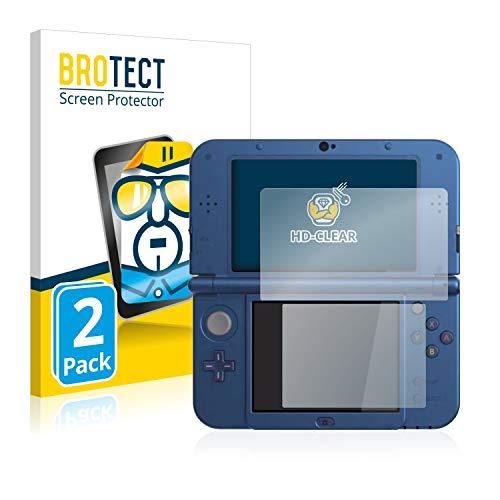brotect Pellicola Protettiva Compatibile con Nintendo New 3DS XL Pellicola Trasparente (2 Pezzi) Anti-Impronte