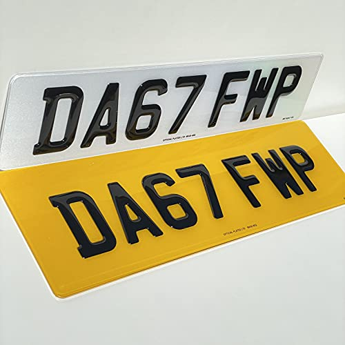 3D Gel Number Plate set compatible for Range Rover/Bentley rear size 21 x 6 (53cm x 15cm)