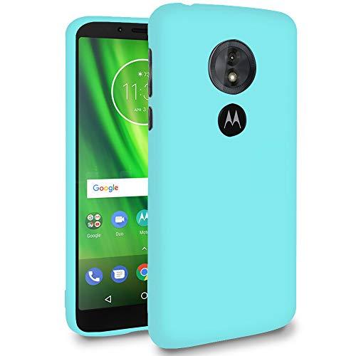 Hülle für Motorola Moto E5 Play (US Version) in Türkis | Unifarben Tasche | Dunn