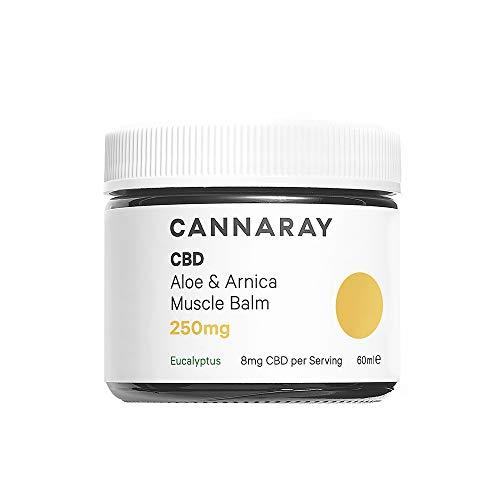 Cannaray CBD Muscle Balm, 250mg cannabidiol | with Soothing Aloe & Arnica, 60ml