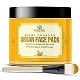 Matra Haldi Chandan Ubtan Face Pack – Ayurvedic Face Mask for Skin Brightening, Tan Removal and Glow – With Turmeric &...