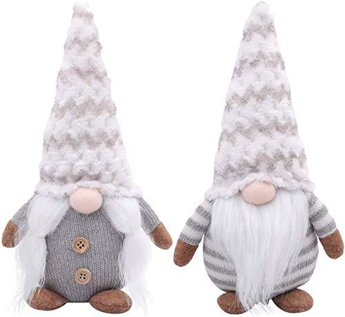 TINY FUN 2PC Gnomo Sueco, Juguete de Peluche navideño, decoración de Estilo escandinavo, Cuidadores de estantes con Patas Colgantes