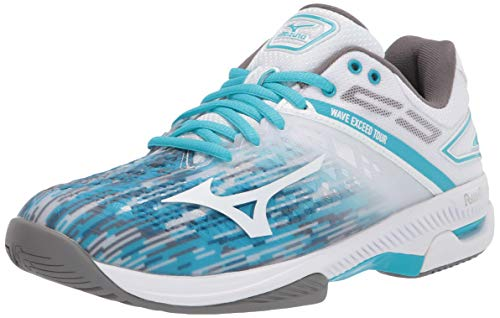 Mizuno womens Court Tennis Shoe, Scuba Blue-white, 9 US