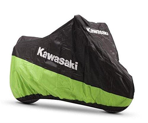 Kawasaki, telone di copertura per moto adatto agli ambienti interni. Taglia M.