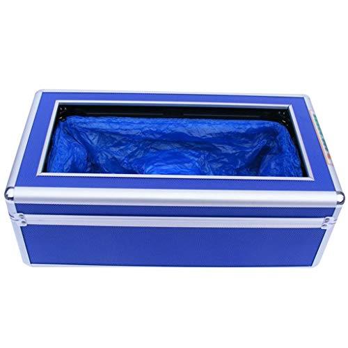 Überschuhe Maschine,Automaten Haushalt Schuhmaschine Aluminiumlegierung 17 * 9 * 5 Zoll (Farbe: Blau,Größe: Geben Sie 310