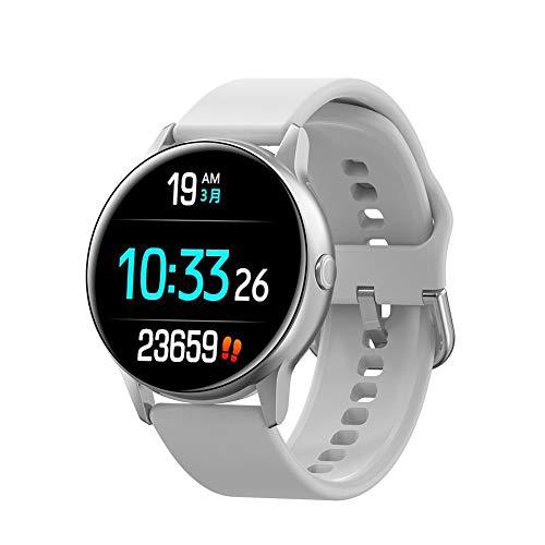 Pegtopone Damen smartwatch Smart Uhren Mode 1,22 Zoll Touchscreen Bluetooth 4,2, ip68 wasserdicht Puls Herzfrequenz und Blutdruck Überwachung Fitness Tracker Sport Armband kompatibel für ios Android