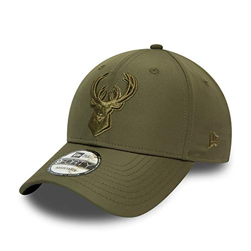 New Era Milwaukee Bucks 9forty Adjustable Caps NBA Tonal Nylon Green - One-Size