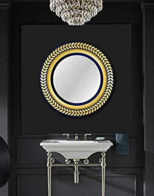 """BEAUTY4U Oval Mirrors of Glass 23.6x31.5"""" Large Bevelled Wall Mirror HD Vanity"""