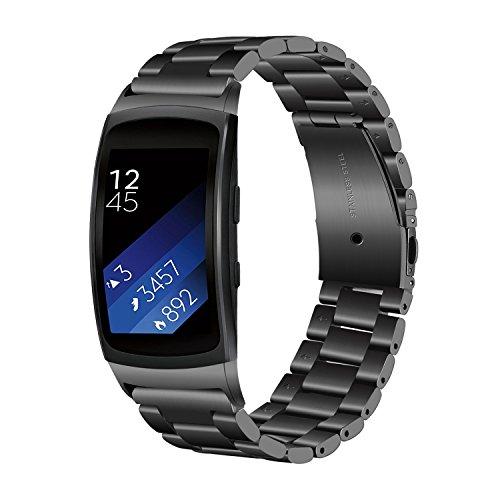 TRUMiRR Armband kompatibel mit Gear Fit 2 Armband, Solid Edelstahlband Sport Armband Handgelenk Uhrenarmband Armband für Samsung Gear Fit 2 SM-R360 / Fit 2 Pro SM-R365 Smart Watch
