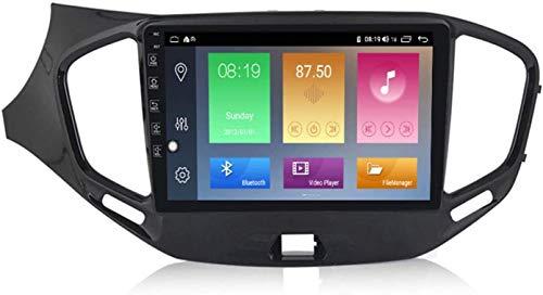 Android 10.0Car Estéreo GPS Unidad de la Unidad de navegación Compatible con Lada Vasta 2015-2019 2.5D Pantalla táctil de IPS Auto Nav Sat SWC/Mapa Offline Mapa Multimedia Player,4 Core WiFi:1+16GB