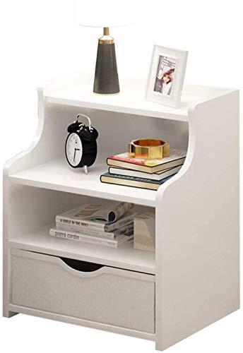 File cabinets Nachttisch Nachttisch Haushalt Wohnzimmer Arbeitszimmer Montage Korridor Einzelpumpe Schlafzimmer Bodenstehend Aufbewahrungsbox Spindtisch Beistelltisch (Farbe: Weiß)