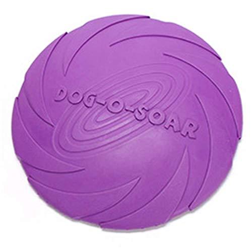 Markcur Hunde Frisbee Scheibe Hundespielzeug Gummi Frisbee Sicher und ungiftig Pet Training Spielzeug für Hunde Welpen Lila