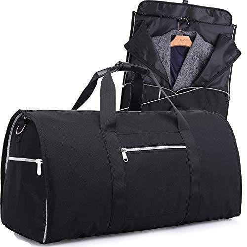 Anzugtasche 2 in 1 Kleidersack und Reisetasche | Kleidertasche und Handgepäck für Männer und Frauen auf Geschäftsreise, Reisen | Anzugsack | Sporttasche, Gym Bag 45 L-Schwarz I