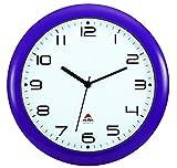 ALBA, Orologio da Parete, Silenzioso, 30 x 30 x 5,5 cm, Viola (Violett)