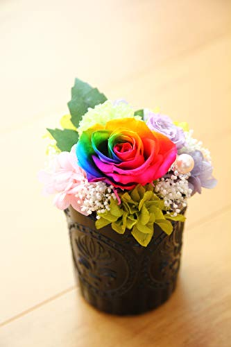 Arc-en-Ciels Happy Rose レインボーローズアレンジ「Marvelous] 黒