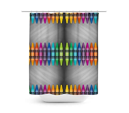 Queen of Cases Rainbow Crayons - Duschvorhang in 4 Größen