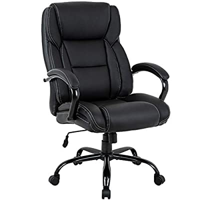 Big and Tall Office Chair 500lbs Desk Chair Ergonomic Computer Chair High Back PU Executive Chair with Lumbar Support Headrest Swivel Chair for Women Men Adults from BestMassage