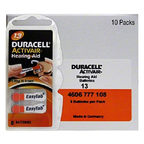 Duracell Activair Hearing Aid Batteries: Size 13 (80 Batteries)