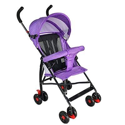 Cochecito de bebé Easy Baby Trolley Travel Ultra Ligero Plegable Baby Shock Transpirable Mesh Baby Carriage Summer GAOLILI (Color : Purple)