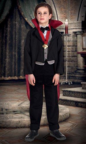 Boland- Costume Bambino Creepy Vampire, Nero/Rosso, 7-9 anni, 78025