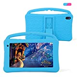 Kids Tablets 7 Inch IPS HD Display QuadCore Android 10.0 Pie Tablet PC for Kids GMS Certificated 2GB RAM 32GB ROM WIFI with Handheld Portable Kids-Proof Silicon Case for Kids Birthday Gift (Blue)