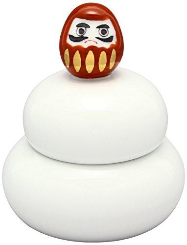 伊万里焼 達磨 鏡餅型 蓋物 赤