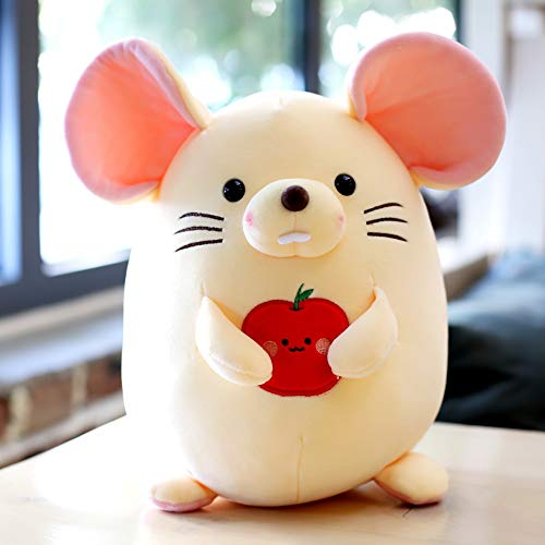 WZNING Leuke Hamster Doll Knuffels Fruit Muis knuffeldier Ragdoll Pillow Rat Doll Soft Gevulde Pluche Toy omlaag Cotton Pluche Dolls for Woninginrichting Holiday Gift (Color : Pink, Size : 42cm)