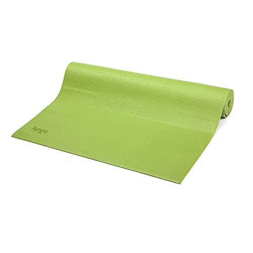 Tapete de Yoga PVC ecológico Asana indicado para iniciantes, ginástica e pilates 183x60cm Bodhi (Verde Oliva)