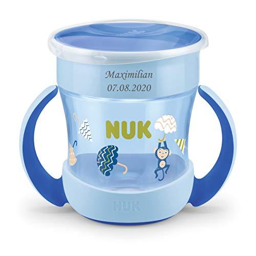 NUK Mini Magic Cup Trinklernbecher mit persönlicher Gravur | 360°-Trinkrand | 160ml | auslaufsicher | BPA-frei | 6+ Monate | blau