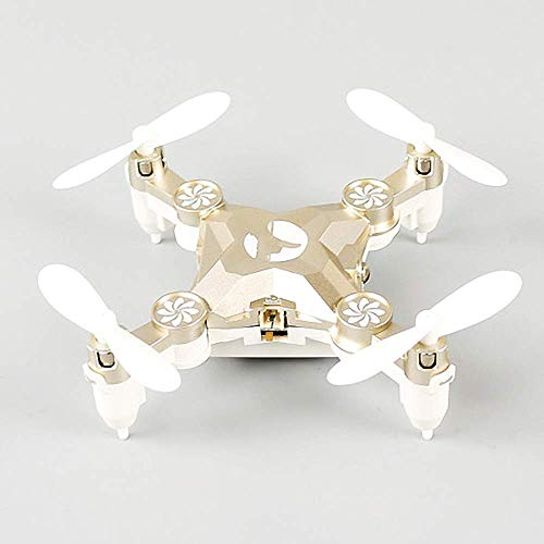 Mini Drone con cuadricóptero RC alto mantenimiento y modo sin cabeza con giro 3D y rotación alta velocidad para retorno luz colorida con un solo botón para drones bolsillo portátiles para niños y pr