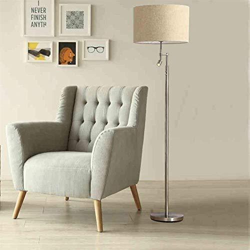 BJLWTQ Lámpara de pie, De pie luminarias de pie luminarias sencilla y elegante for la vida de la habitación permanente luces nórdica bulbo de madera lámpara de cabecera del macizo Incluido Luz para le