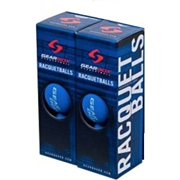 Black 2 Boxes of 3 Balls GearBox Racquetballs