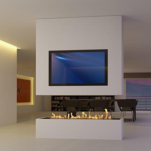 muenkel design SONDERANFERTIGUNG 8: Raumteiler mit TV und Bioethanol/Elektro Opti-myst