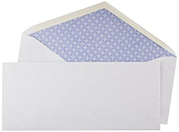 Amazon Basics #10 Security Tinted Business Envelopes Moisture Sealed 4 1/8-Inch x 9 1/2 Inch - Pack of 500