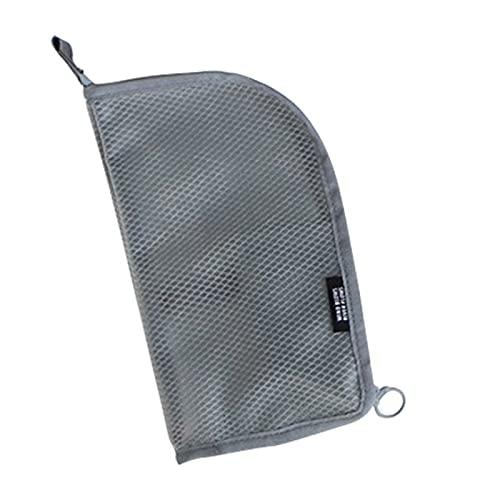 Kulturbeutel Reisetasche für Frauen, tragbare Reise Make-up Pinsel Zahnbürste Zahnpasta Aufbewahrungstasche Etui Behälter für Toilettenartikel, Kosmetik, Make-up, Pinsel, grau,