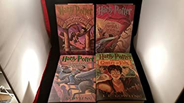 """J. K. Rowling """"Harry Potter and ..."""" Set of 4 Books 1st Edition, 1 Print, Club Edition"""