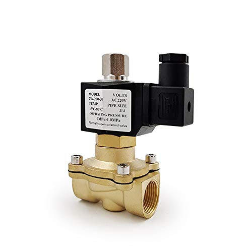 SHENYF Válvula 1/4'3/8' 1/2'3/4' 1'DN15 Normalmente se Abre Normalmente N/O de latón solenoide eléctrico válvula 12V 24V 220V 110V Válvula neumática para Gasolina de Aceite de Agua