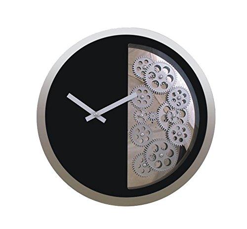 Flashing- 16 inch creatieve persoonlijkheid tandwiel wandklok, metaal glas ABS materiaal/carbon batterij (zonder batterij) / ronde woonkamer slaapkamer horloges