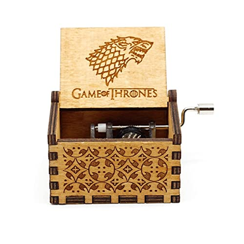 Leisont Woodhand Crank Queen's Music Box Bohemian Rhapsody Theme Game of Thrones Beauty Beast Stakes. Sí.
