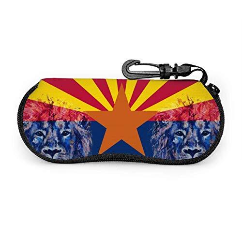 Gafas de sol de la bandera de Arizona con estuche de gafas de bolsa suave con hebilla de bloqueo