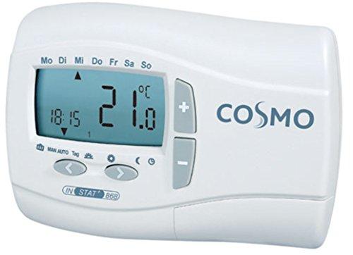 COSMO Funk-Uhrenthermostat 868 MHz 5 bis 30 Grad batteriebetrieben