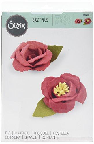 Sizzix Bigz Plus Die-3D Flower, Plastic, Wood, Steel, Multicolour, 34.5 x 21.5 x 2 cm