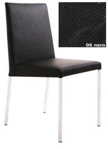 KFF Stuhl Spring Nova High Gestell Chrom/Leder Nero 06
