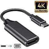 Type C to HDMI 変換アダプター USB Type C HDMI 変換アダプター USB C HDMI 変換 ケープル4K高解像度 ビデオ対応hdmi 変換ポートセレクタ接続簡単TV、ディスプレイ、モニター用Macbook Pro/iPad/Samsung Galaxy/Huawei など対応 (BLACK)
