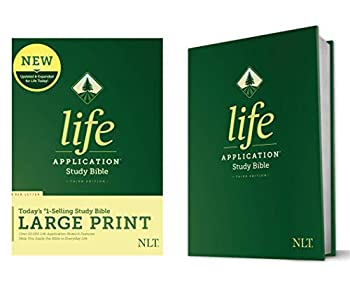 Tyndale NLT Life Application Study Bible Third Edition Large Print  Hardcover Red Letter  – New Living Translation Bible Large Print Study Bible for Enhanced Readability
