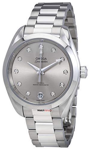 Omega Seamaster Aqua Terra orologio da donna quadrante argento con diamanti 220.10.34.20.60.001